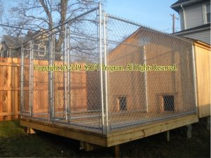 Creating an outdoor kennel on the property of the shelter. Photo of AWARE, Inc. (Hermitage, PA).